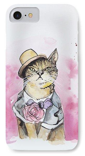 Mr Cat In Costume IPhone Case by Venie Tee