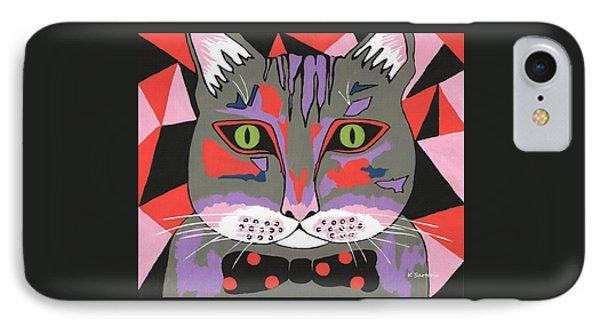 Mr Cat IPhone Case by Kathleen Sartoris