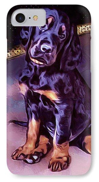 Mr Gordon Setter Pup IPhone Case