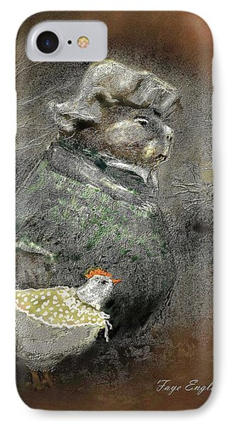 Mr. Groundhog And Miss Chick IPhone Case by Faye English