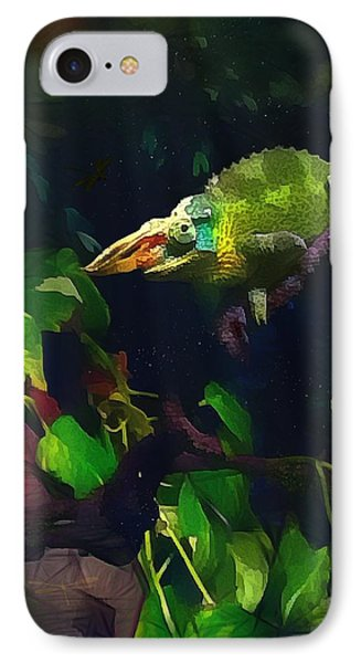 IPhone Case featuring the photograph Mr. H.c. Chameleon Esquire by Sharon Jones