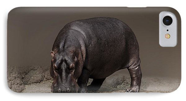 Mr. Hippo IPhone Case by Charuhas Images