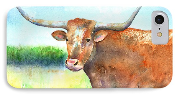 Mr. Longhorn Phone Case by Arline Wagner