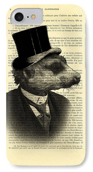 Meerkat Portrait In Black And White IPhone Case by Madame Memento