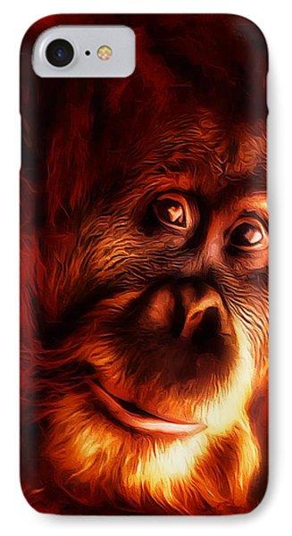 Mr Orangutan Portrait  IPhone Case