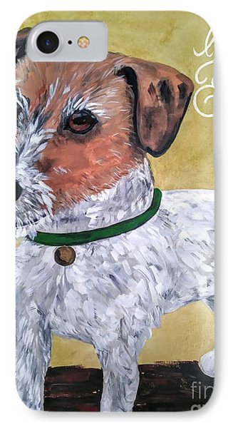 Mr. R. Terrier IPhone Case by Reina Resto
