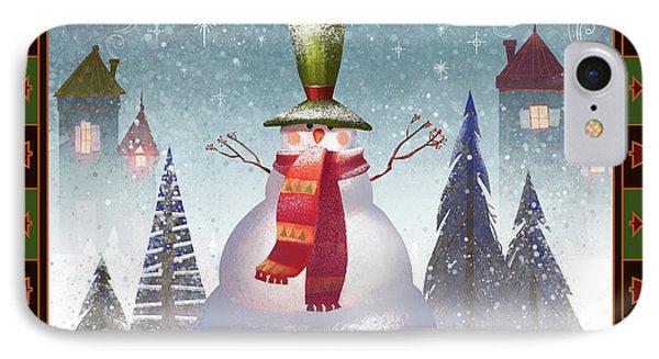Mr. Snowman IPhone Case by Kristina Vardazaryan