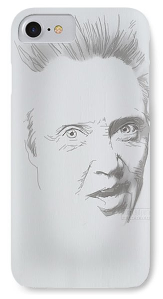 IPhone Case featuring the mixed media Mr. Walken by TortureLord Art