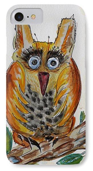 Mr.orange Owl IPhone Case