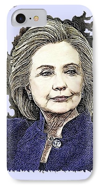 Mrs Hillary Clinton IPhone Case by Artful Oasis