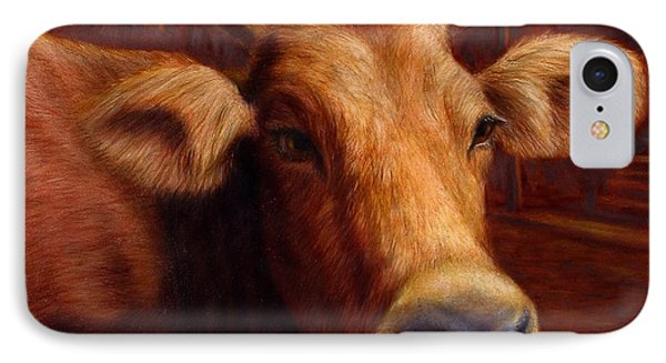 Cow iPhone 7 Case - Mrs. O'leary's Cow by James W Johnson