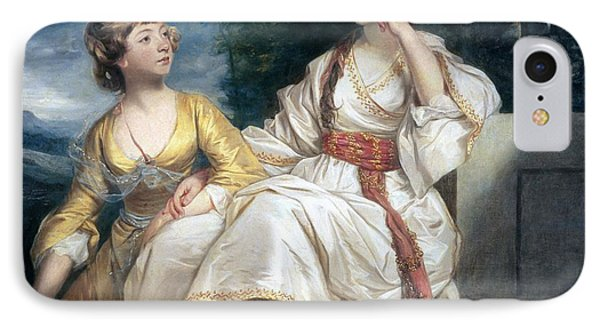 Mrs Thrale And Her Daughter Hester IPhone Case by Sir Joshua Reynolds