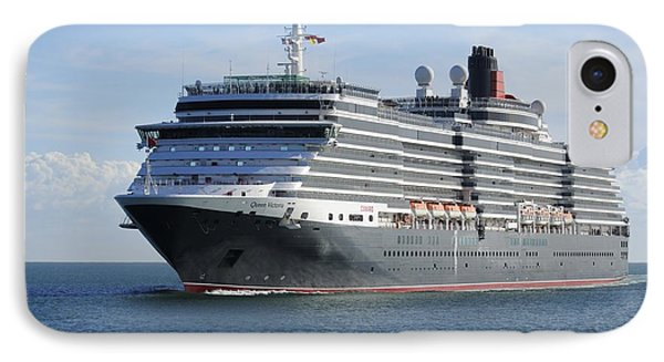 IPhone Case featuring the photograph Ms Queen Victoria Approaching by Bradford Martin