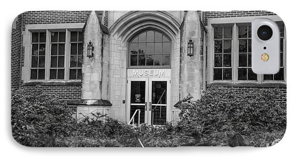 Msu Museum Black And White  IPhone 7 Case by John McGraw