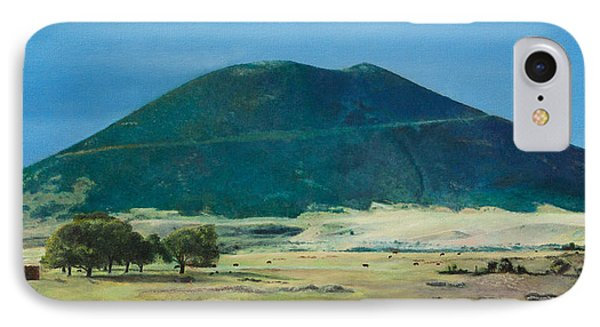 IPhone Case featuring the painting Mt. Capulin In Summer by Joshua Martin