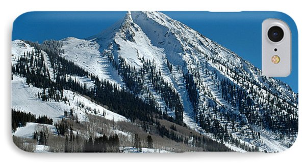 Mt Crested Butte IPhone Case by Teresa Blanton