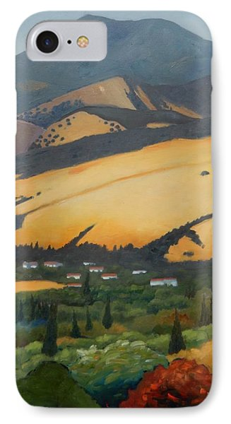 IPhone Case featuring the painting Mt. Diablo Above by Gary Coleman