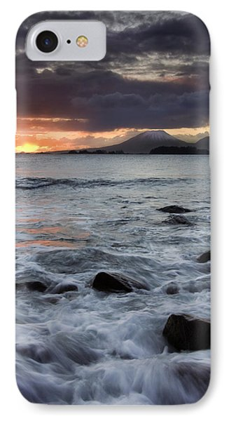 Mt. Edgecumbe Sunset Phone Case by Mike  Dawson