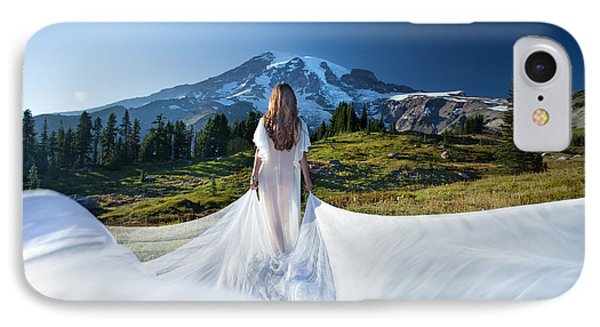 IPhone Case featuring the photograph Mt Goddess by Dario Infini