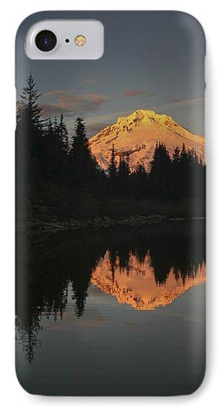 Mt Hood Alpenglow II IPhone Case by Albert Seger