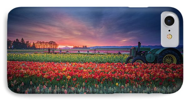 IPhone Case featuring the photograph Mt. Hood And Tulip Field At Dawn by William Lee