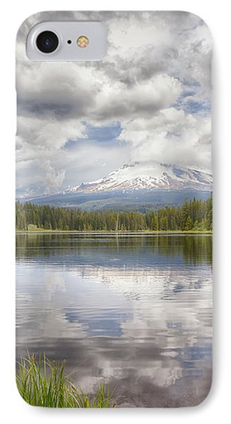 Mt Hood From Trilliam Lake IPhone Case by Harold Rau