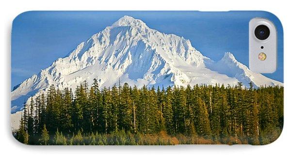 Mt Hood In Winter IPhone Case by Albert Seger