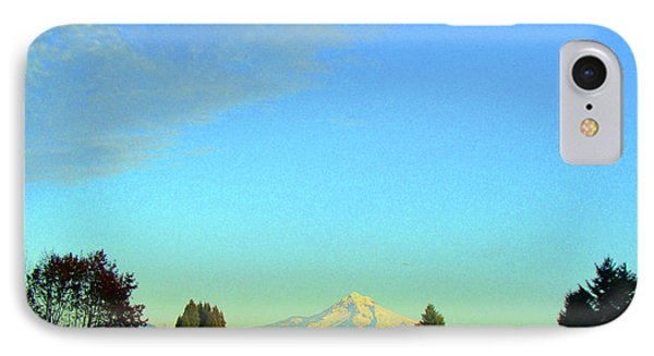Mt Hood Just Before Sunset IPhone Case