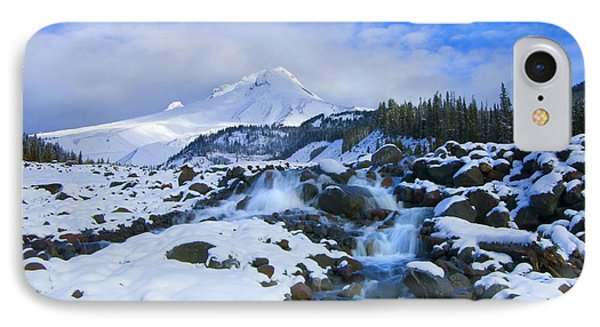 Mt. Hood Morning Phone Case by Mike  Dawson