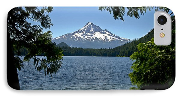 Mt Hood Over Lost Lake IPhone Case