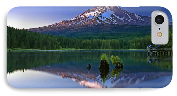 Mt. Hood Reflection At Sunset IPhone Case by William Lee