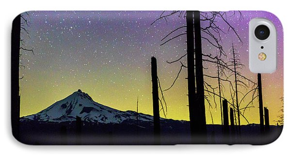 IPhone Case featuring the photograph Mt. Jefferson Bathed In Auroral Light by Cat Connor