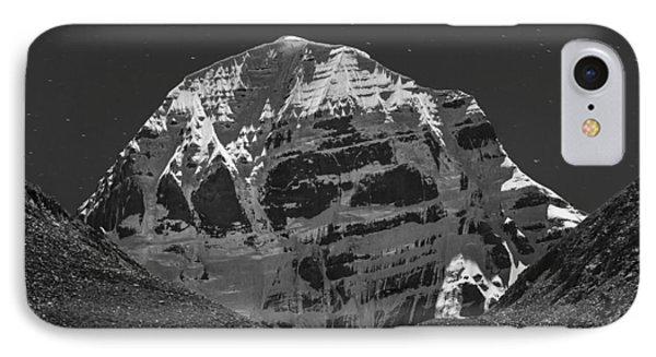 Mt. Kailash In Moonlight IPhone 7 Case by Hitendra SINKAR