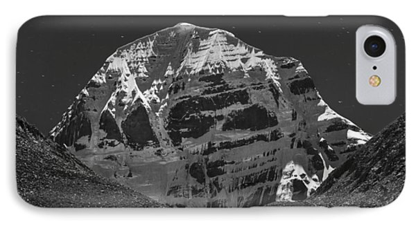 Mt. Kailash In Moonlight IPhone Case
