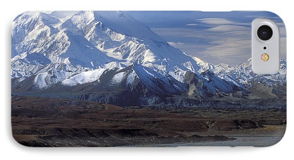 Mt. Mckinley And Lenticular Clouds Phone Case by Sandra Bronstein