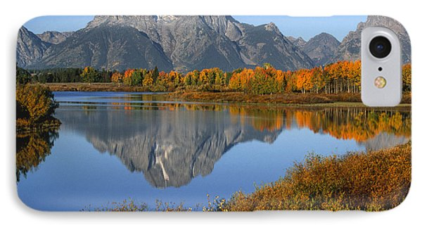 Mt. Moran Fall Reflection  Phone Case by Sandra Bronstein