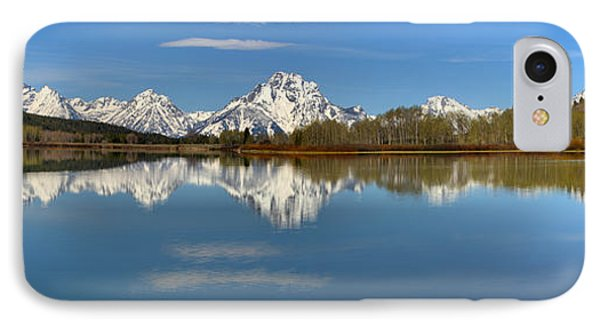 Mt. Moran Reflections At Oxbow IPhone Case by Adam Jewell