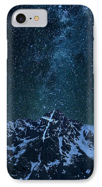 IPhone 7 Case featuring the photograph Mt. Of The Holy Cross Milky Way by Aaron Spong