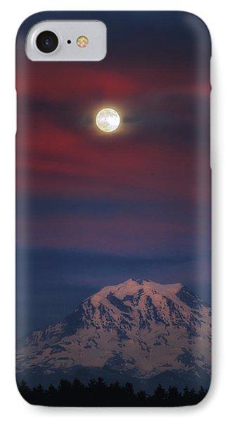 Mt Rainer Super Moon IPhone Case