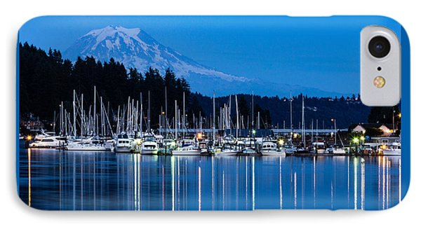 Mt. Rainier From Gig Harbor IPhone Case by Randy Bayne