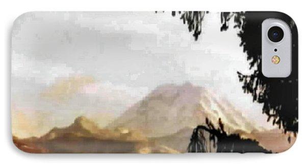 Mt. Rainier In Lace IPhone Case