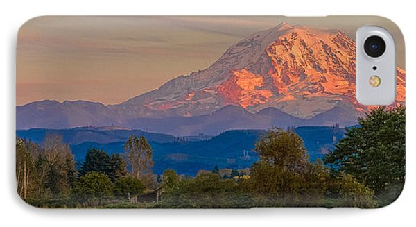 Mt Rainier In The Fall IPhone Case by Ken Stanback