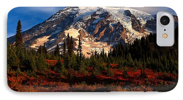 Mt. Rainier Paradise Morning IPhone Case by Adam Jewell