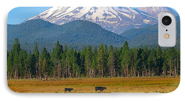 Mt. Shasta Morning IPhone Case by Betty Buller Whitehead