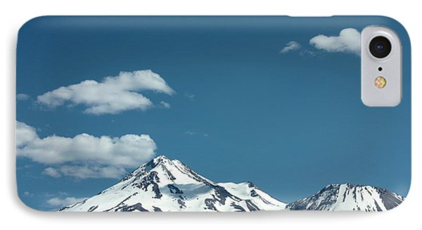 Mt Shasta With Heart-shaped Cloud Phone Case by Carol Groenen