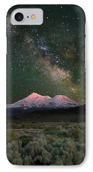 Mt Shasta With Milky Way#2 Phone Case by Keith Marsh