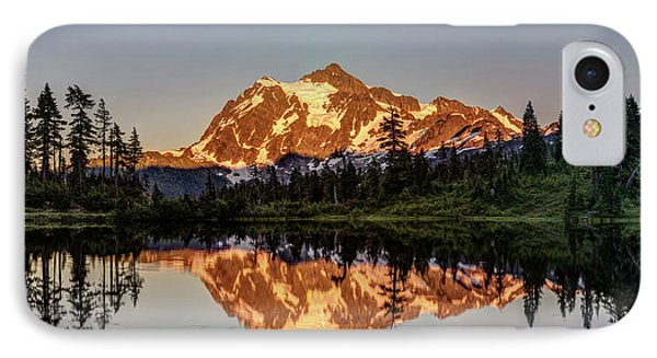 IPhone Case featuring the photograph Mt Shuksan Reflection by Pierre Leclerc Photography