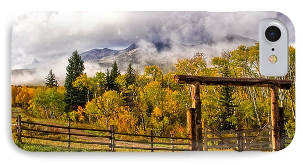 Mt Sopris Under The Clouds IPhone Case