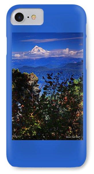 Mt.hood N Fall IPhone Case by Steve Warnstaff