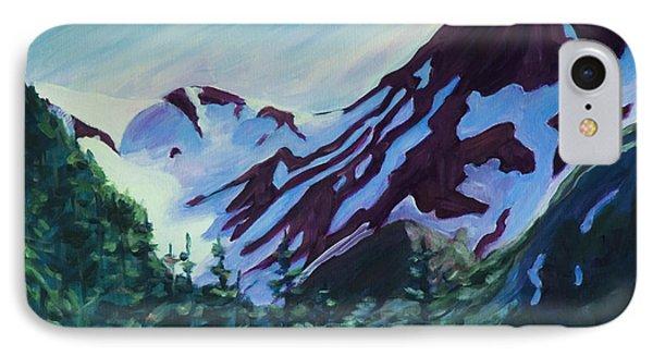 IPhone Case featuring the painting Mt.roberts Juneau Alaska by Yulia Kazansky